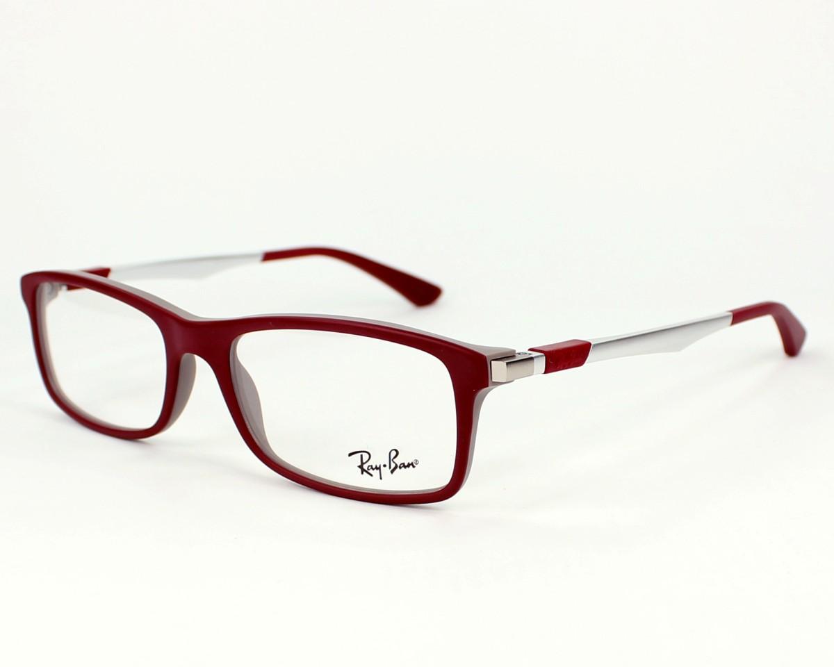 bb3784d125 eyeglasses Ray-Ban RX-7017 5198 - Burgundy Silver profile view