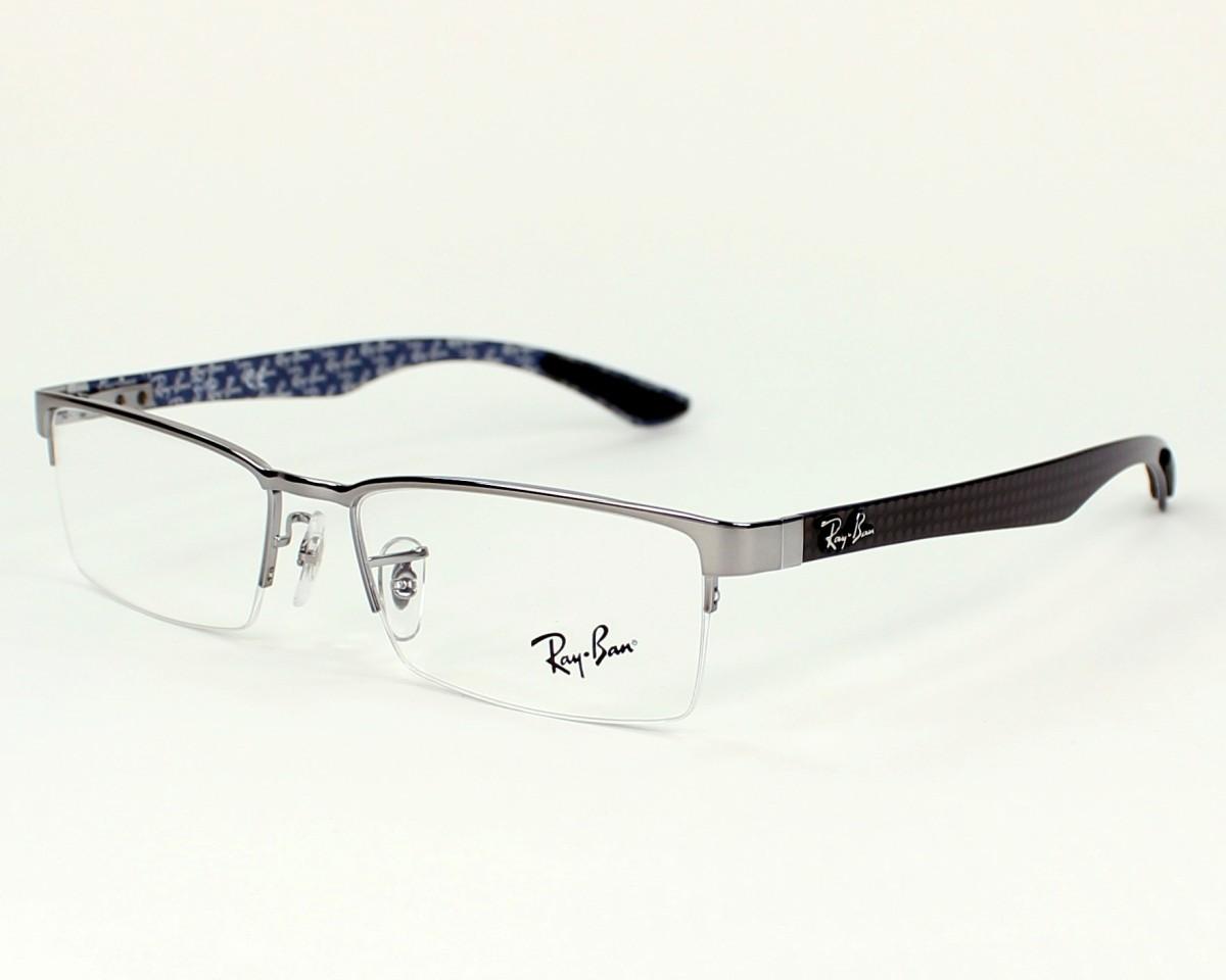 0bb07dd2b50 thumbnail eyeglasses Ray-Ban RX-8412 2502 52-17 Silver Black profile view