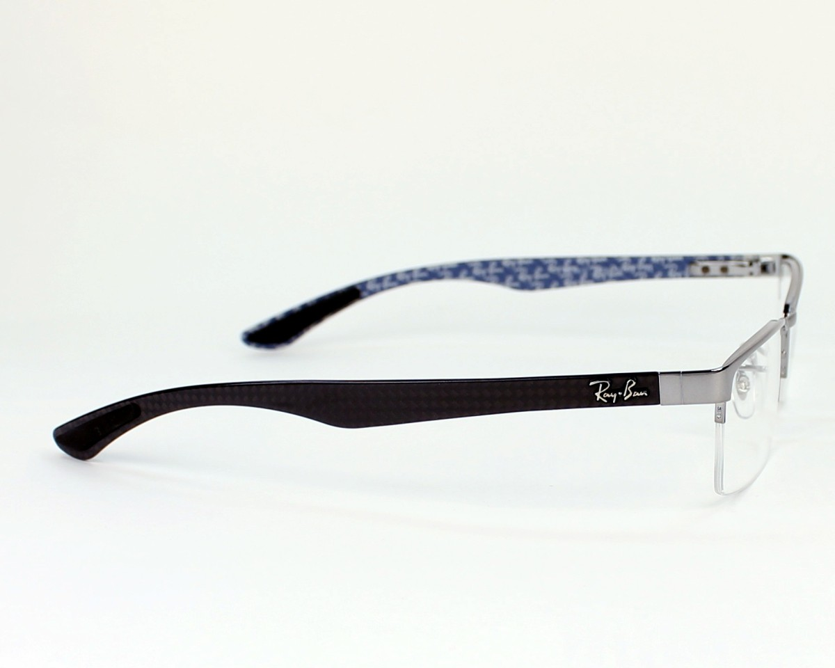 0ea2c266e8d eyeglasses Ray-Ban RX-8412 2502 52-17 Silver Black side view