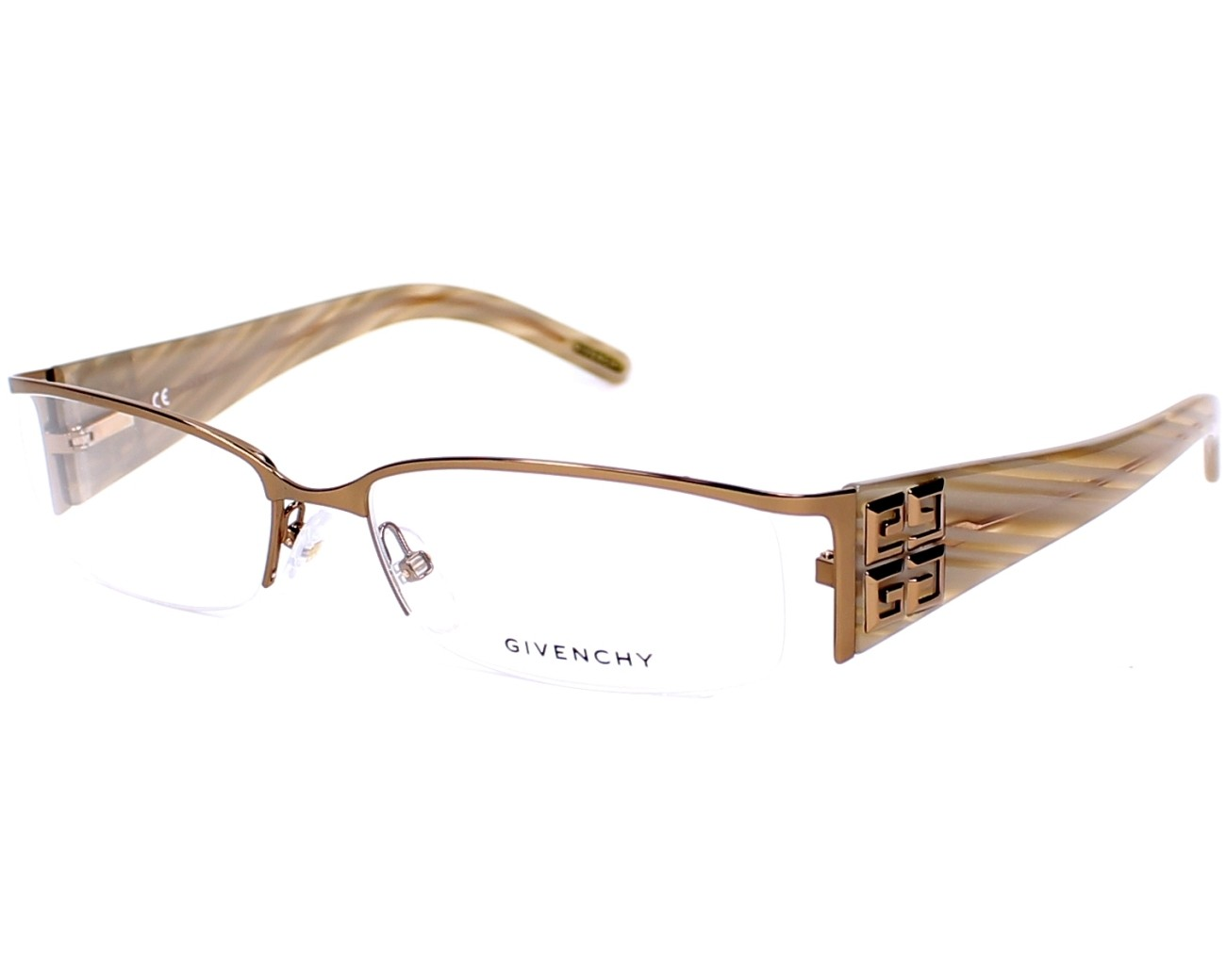 01823f1595e6 eyeglasses Givenchy VGV-302 0R80 - Gold Copper Beige profile view