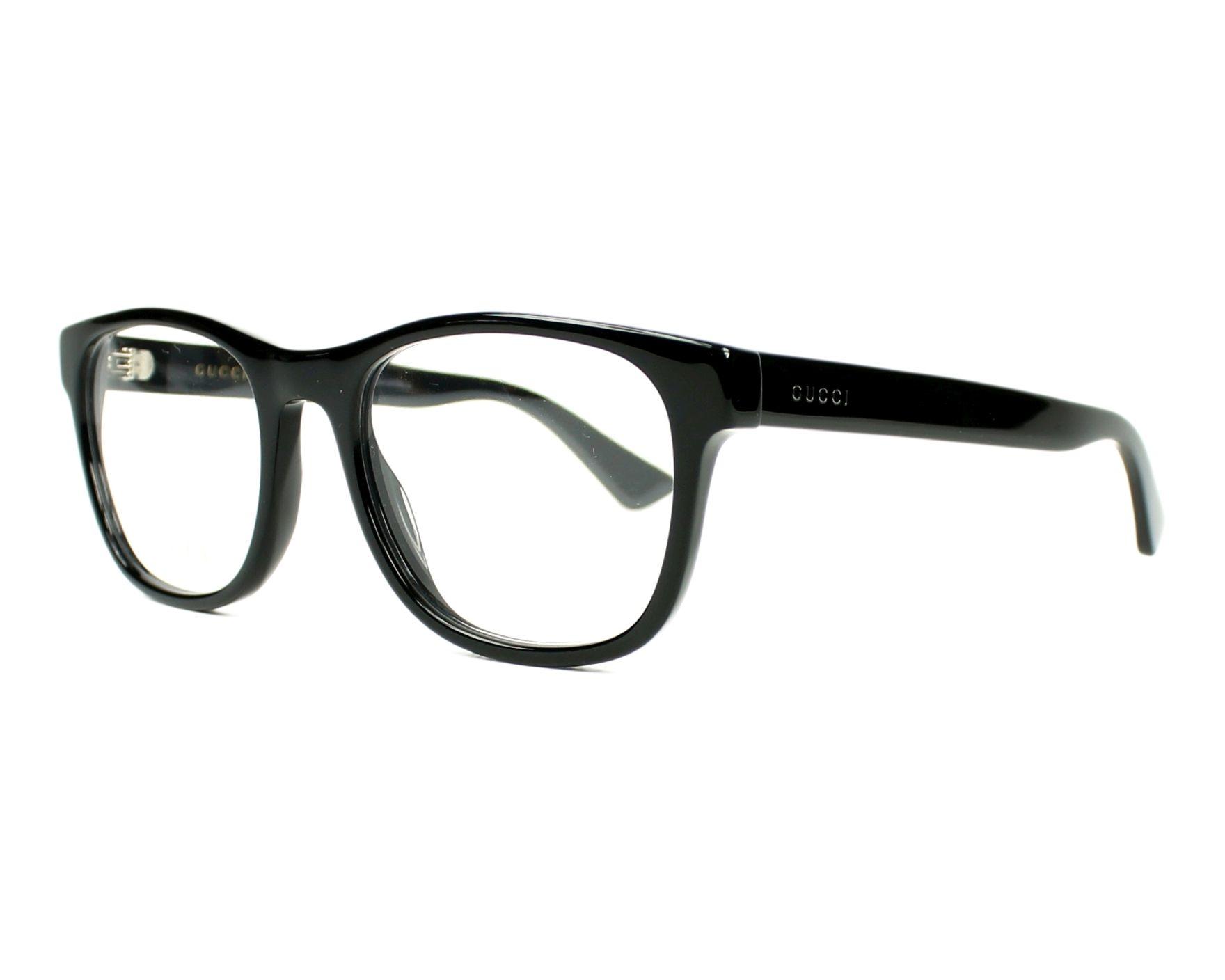 b631a34de9 eyeglasses Gucci GG-0004-O 001 53-19 Black profile view