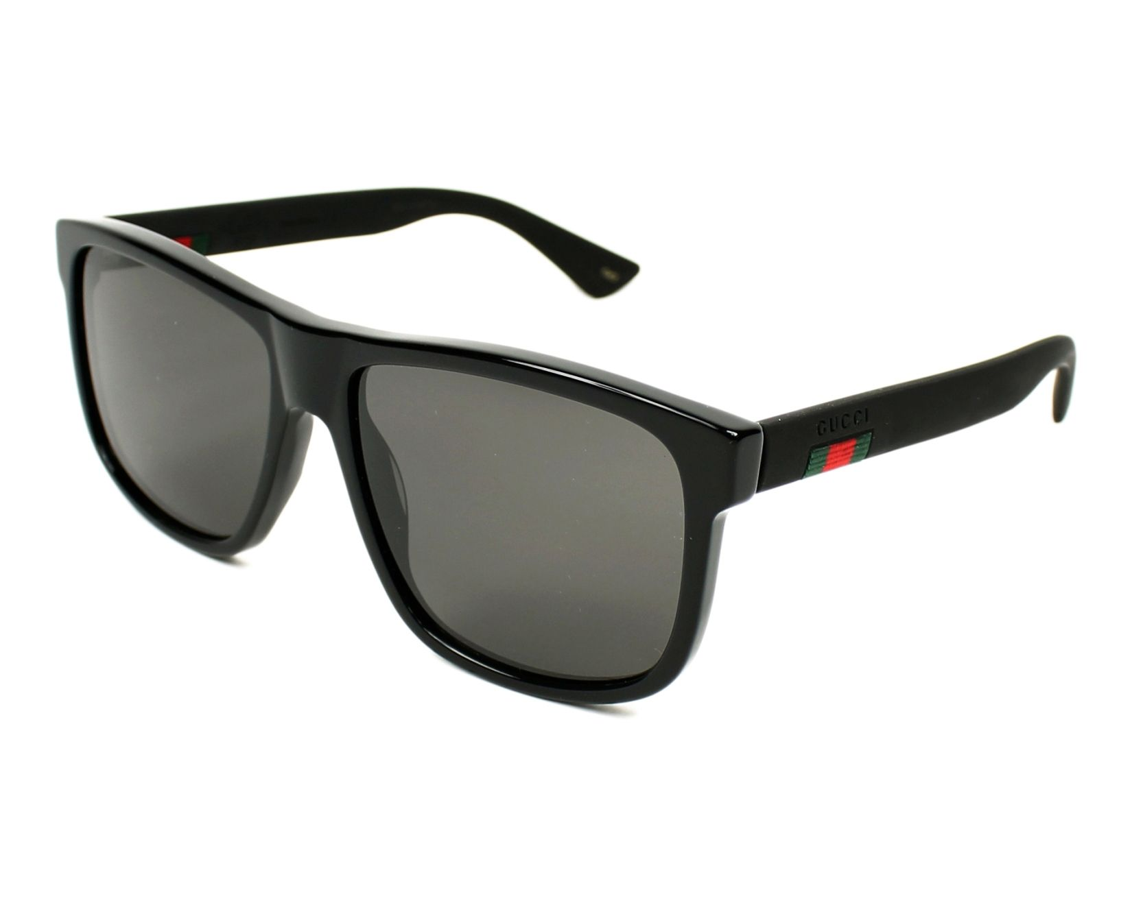 7dd3b5fd50 Sunglasses Gucci GG-0010-S 001 58-16 Black Black profile view