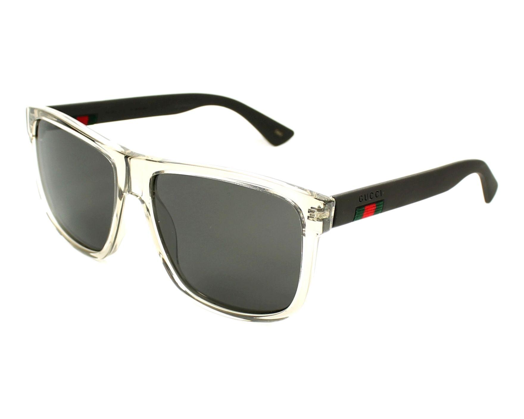 Sunglasses Gucci GG-0010-S 005 58-16 Grey Grey profile view 763c34ca1f38