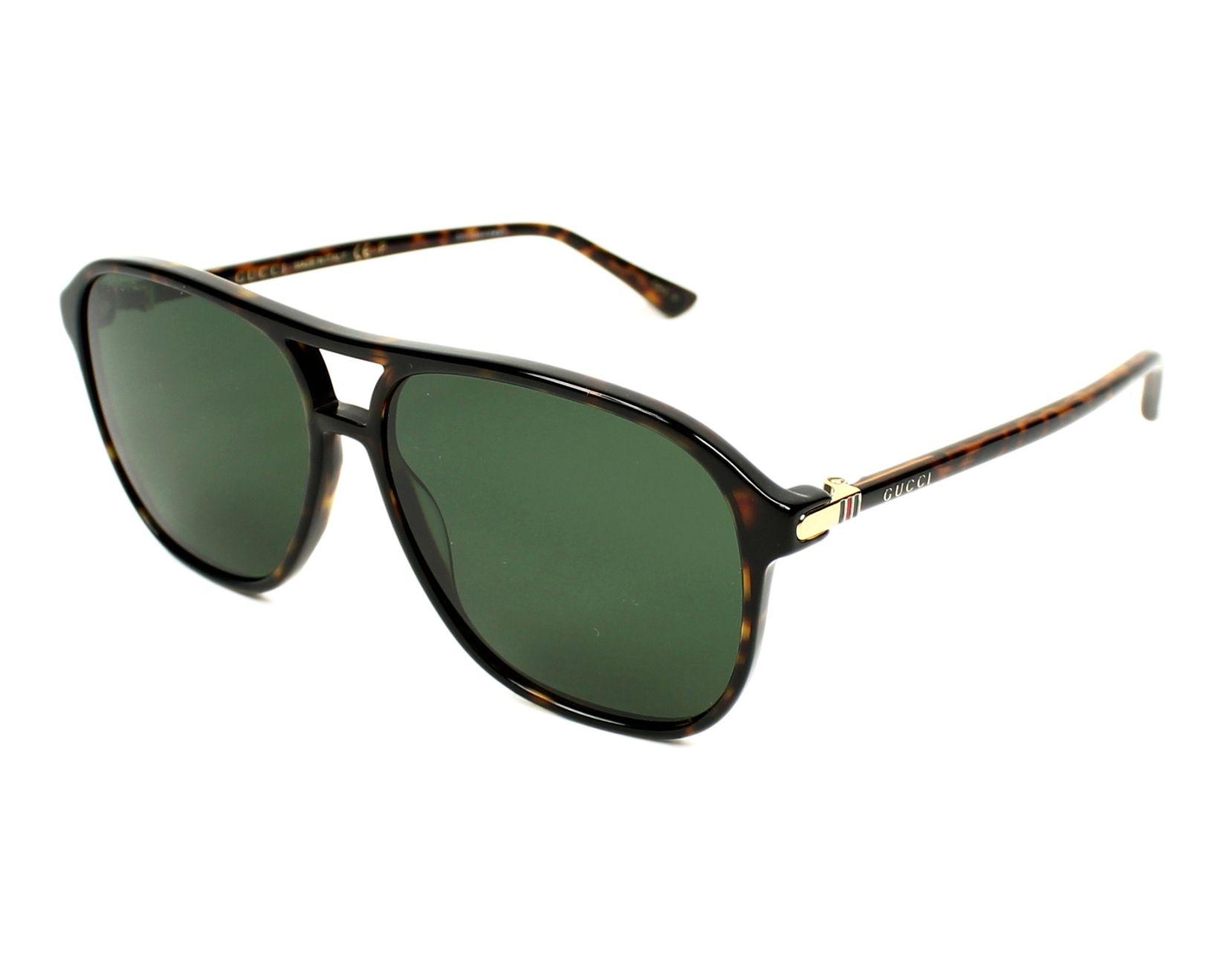 de901b2908c Sunglasses Gucci GG-0016-S 007 58-14 Havana profile view