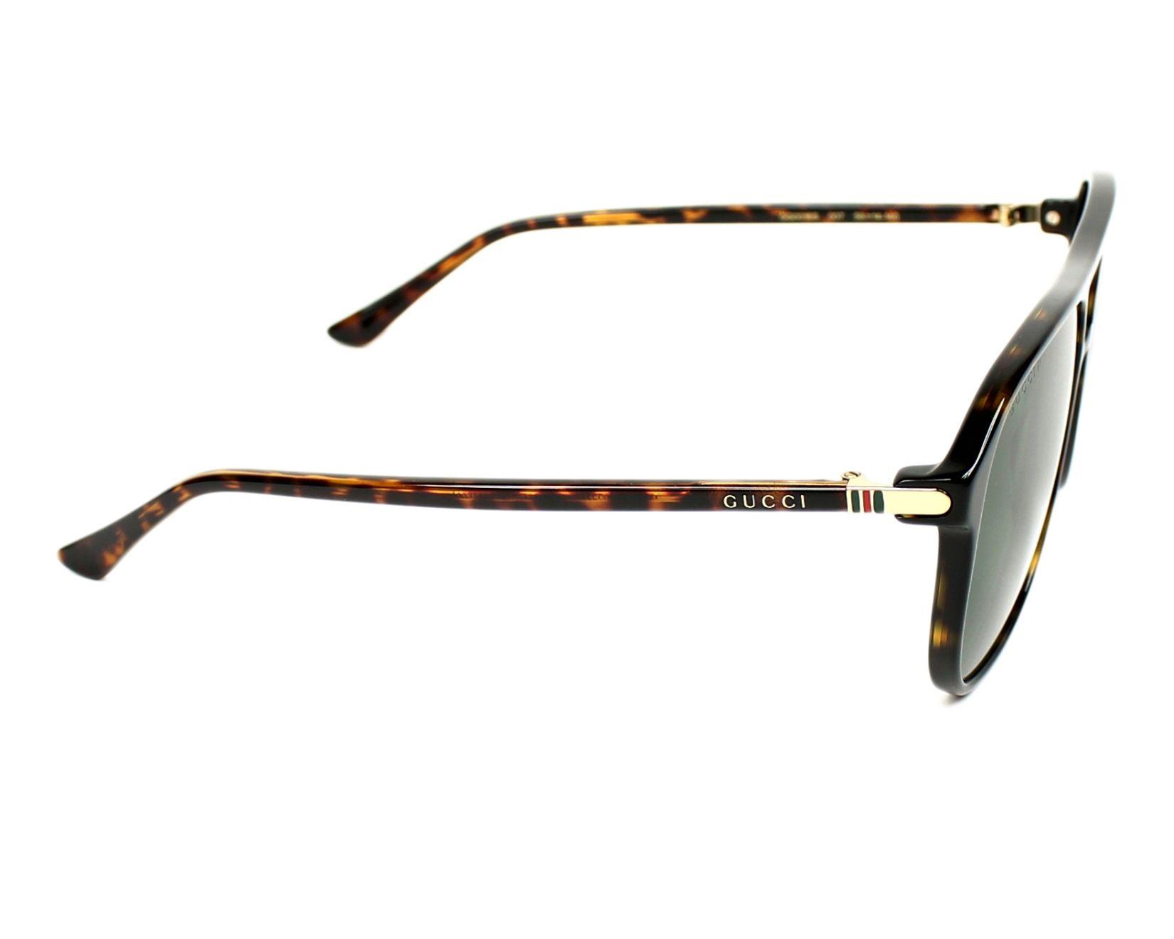 27e0cdc80b6 Sunglasses Gucci GG-0016-S 007 58-14 Havana side view