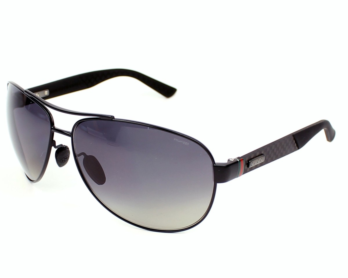 81aef93371ad thumbnail Sunglasses Gucci GG-2246-S 4VH WJ - Black Grey profile view