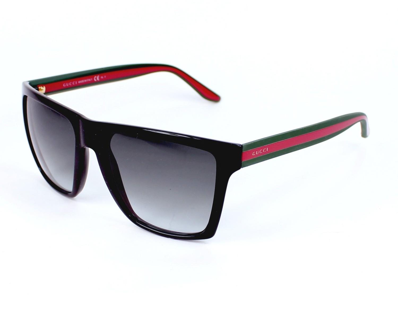 48ad8ef778f thumbnail Sunglasses Gucci GG-3535-S 51N PT - Black Green profile view