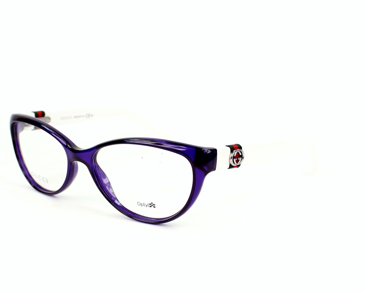 353c208efa7 eyeglasses Gucci GG-3682 4UK - Purple White profile view