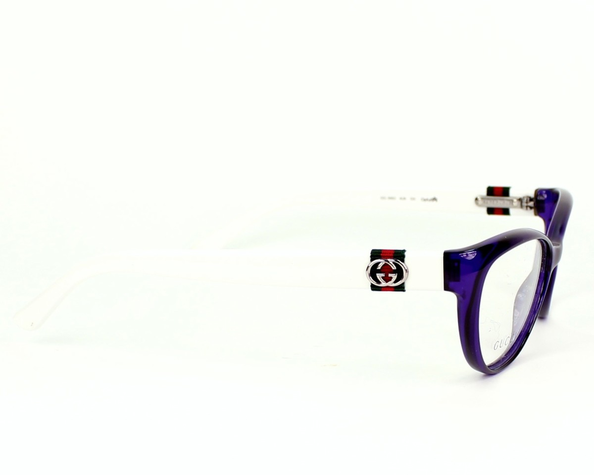 49e8396477f eyeglasses Gucci GG-3682 4UK - Purple White side view
