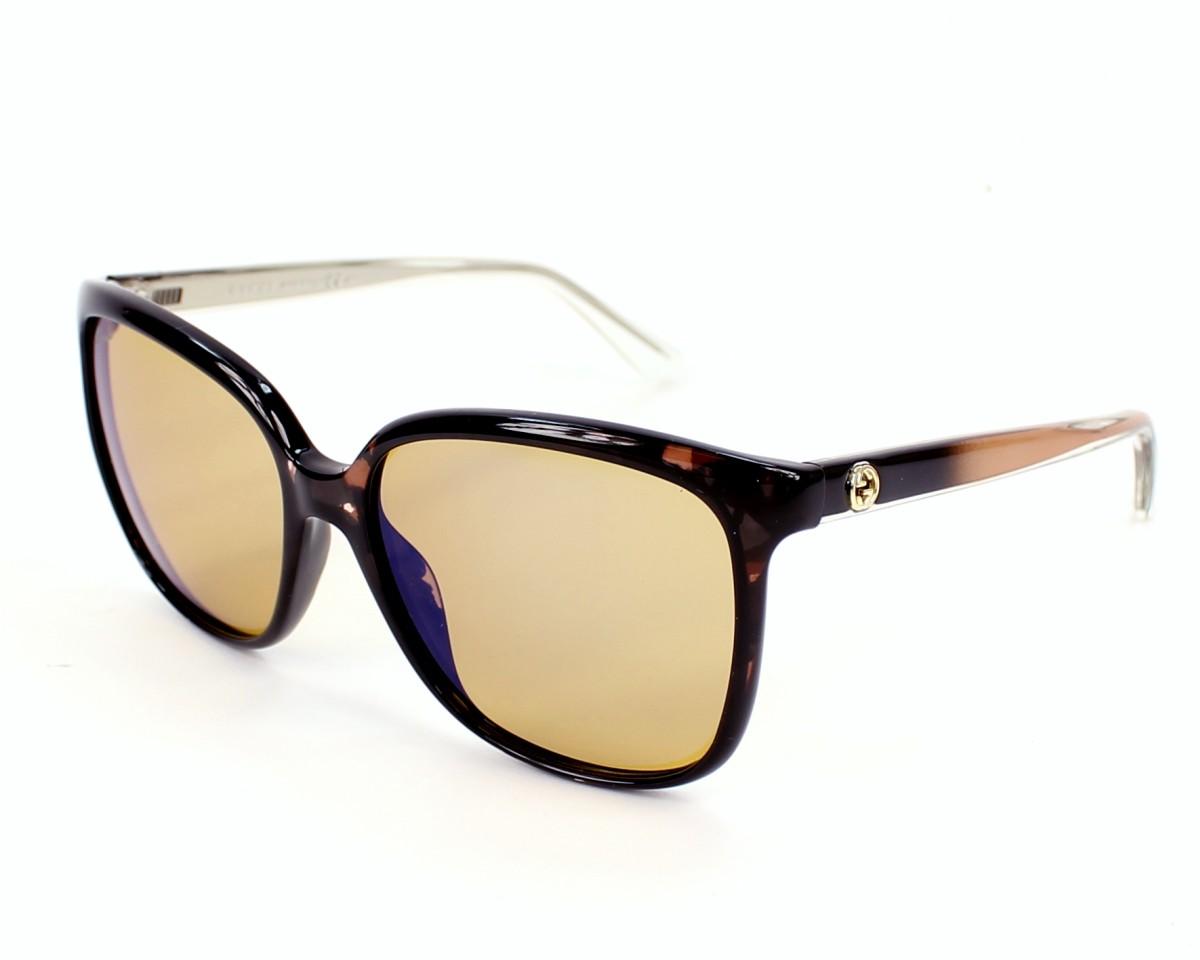 2005df36ebf thumbnail Sunglasses Gucci GG-3696-S H61 6U - Brown Crystal profile view