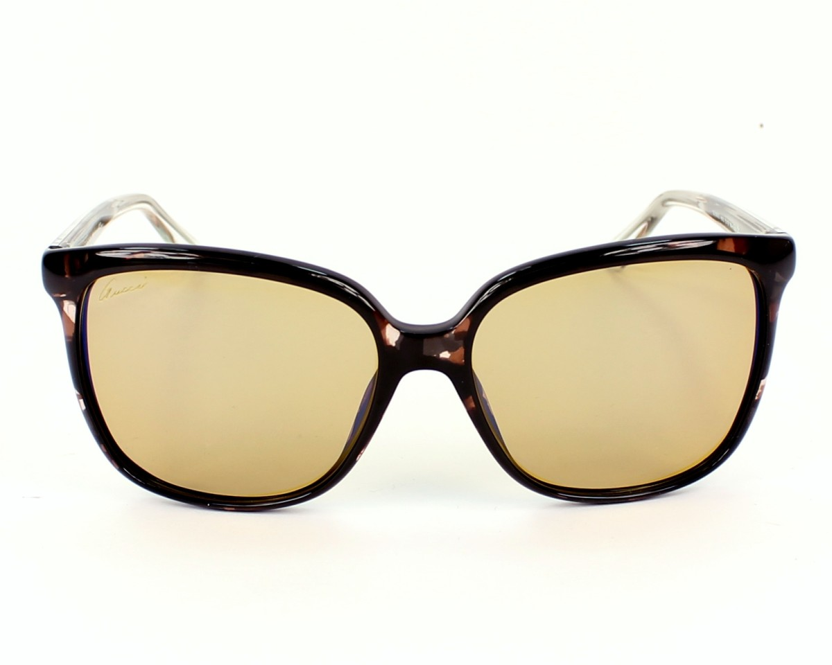 c3b40f8dcca thumbnail Sunglasses Gucci GG-3696-S H61 6U - Brown Crystal front view