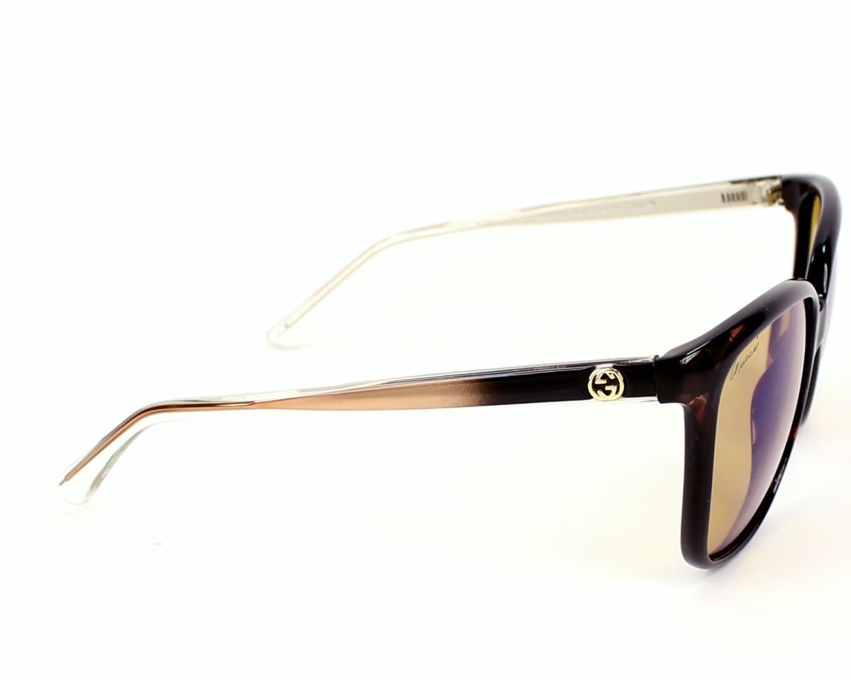 e1f022dd60b thumbnail Sunglasses Gucci GG-3696-S H61 6U - Brown Crystal side view