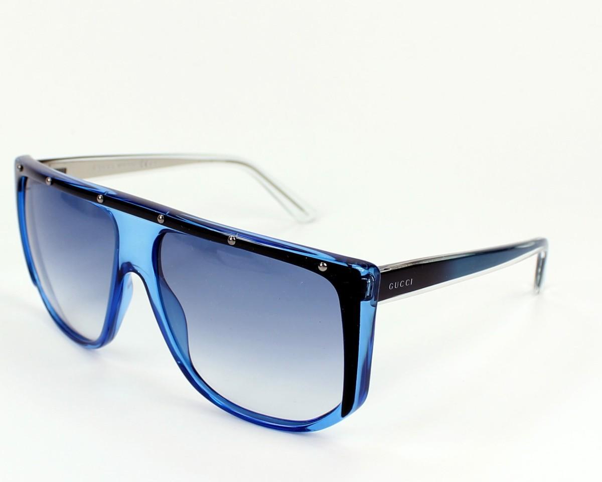 1dd50025743 thumbnail Sunglasses Gucci GG-3705-S 9W3 KC - Blue Black profile view
