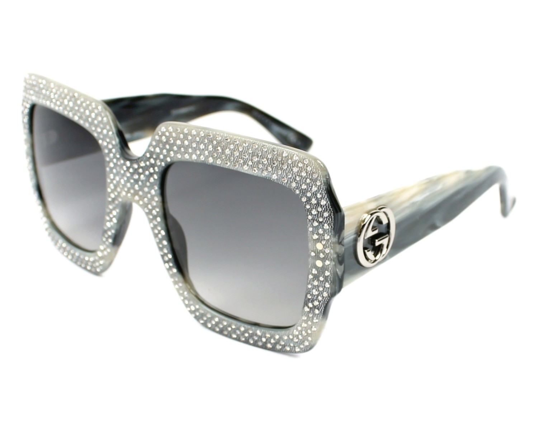 b53fdff2a78 Sunglasses Gucci GG-3861-S Y4X VK - Silver Grey Horn profile view