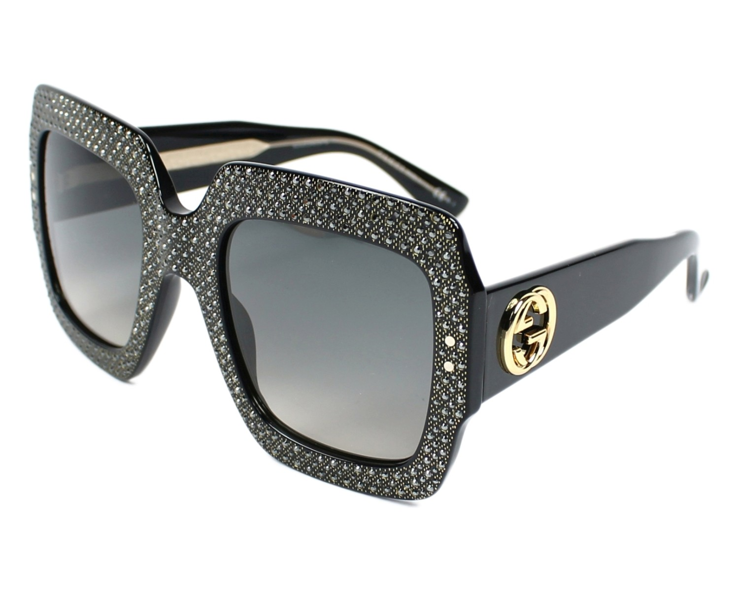 cf810f3e40876 thumbnail Sunglasses Gucci GG-3861-S Y6C DX - Black Crystal profile view