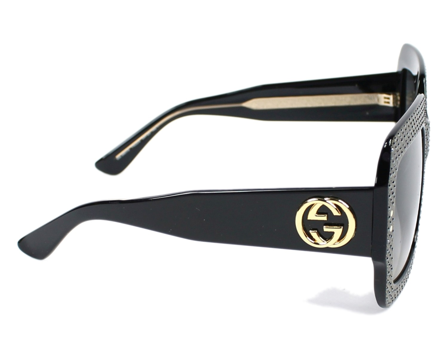 6b12b4f7f43ee thumbnail Sunglasses Gucci GG-3861-S Y6C DX - Black Crystal side view