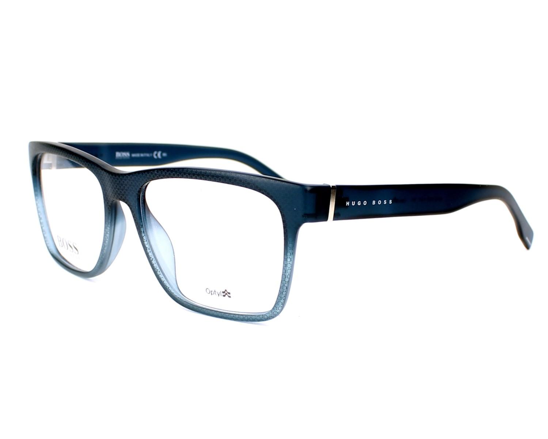 1be87bf303 eyeglasses Hugo Boss BOSS-0728 26O 55-17 Blue profile view