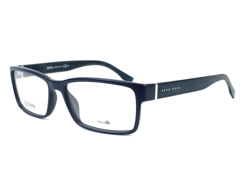 Hugo Boss Eyeglasses Boss 0797 Qnz Blue Denim Visio Net Co Uk