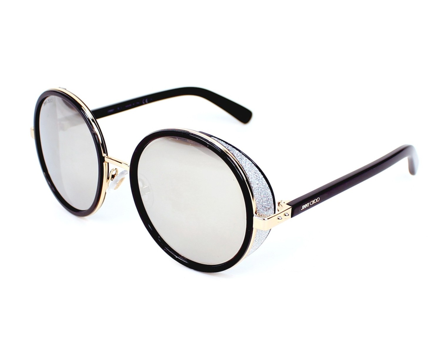 0083d09402 Sunglasses Jimmy Choo ANDIE-S J7Q M3 54-21 Black Gold profile view
