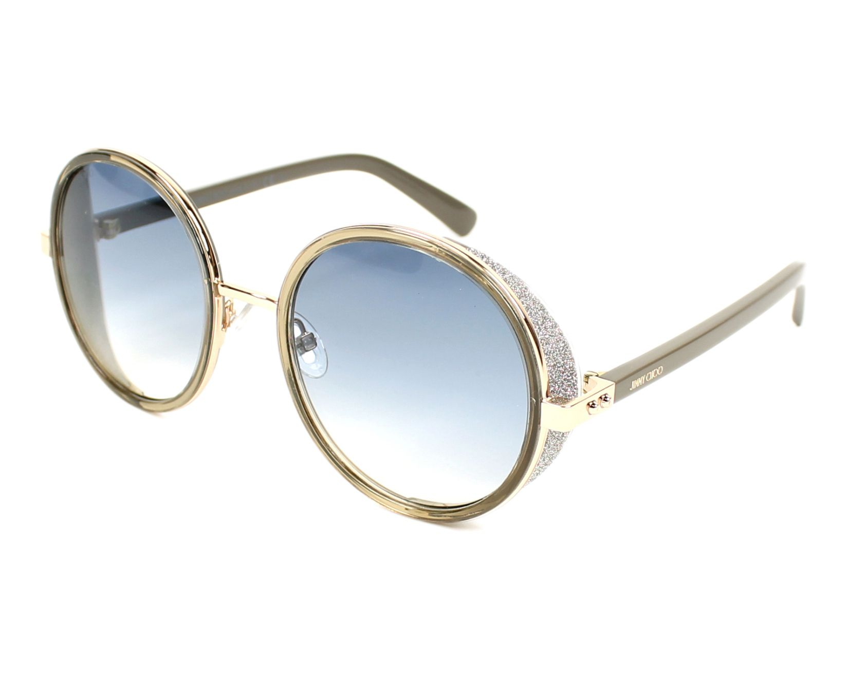 19d8036090e7 Sunglasses Jimmy Choo ANDIE-S S9R U3 54-21 Gold Grey profile view