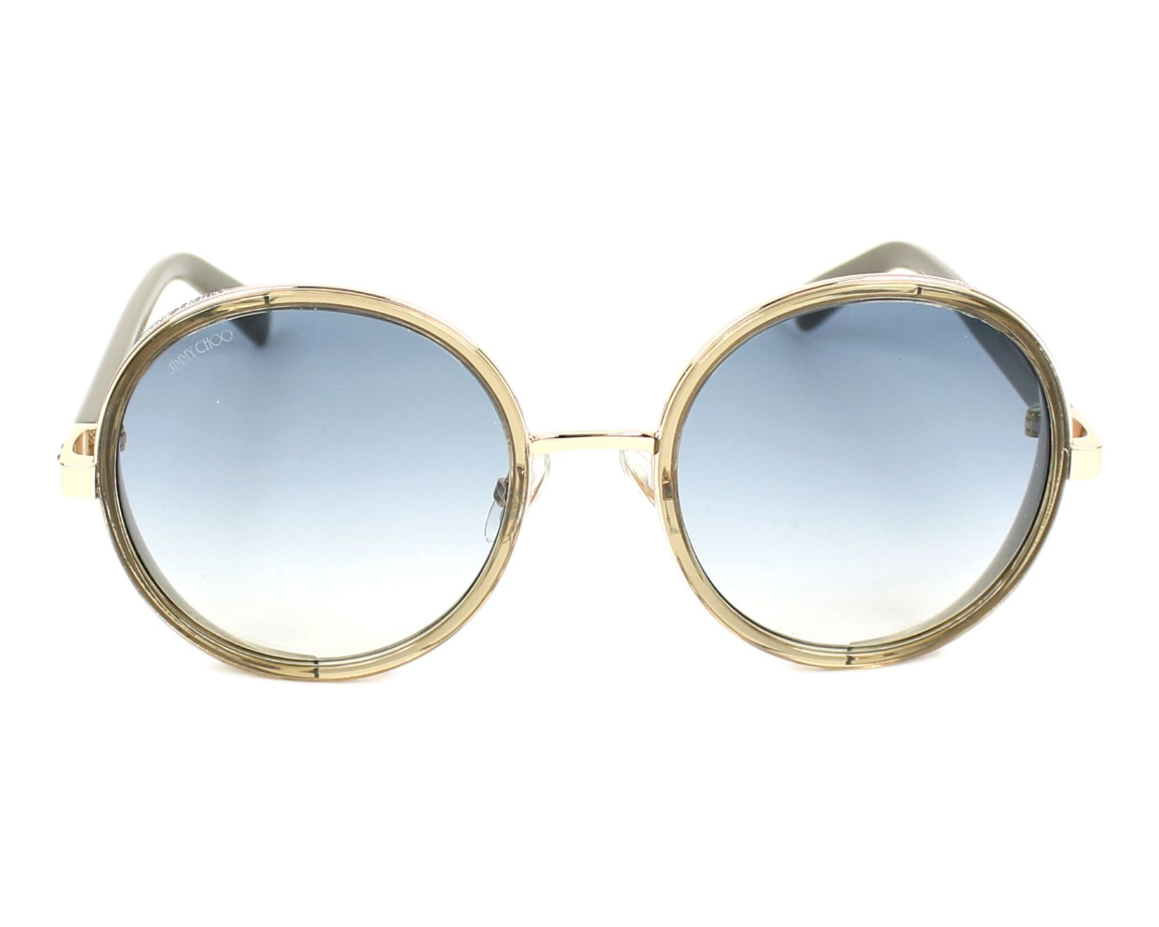 068a61090aaa Sunglasses Jimmy Choo ANDIE-S S9R U3 54-21 Gold Grey front view
