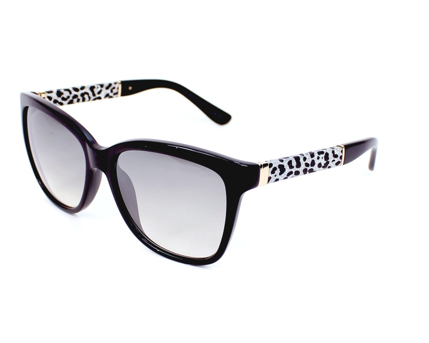 c4b79a0d2c84d thumbnail Sunglasses Jimmy Choo CORA-S FA3 IC - Black Leo profile view