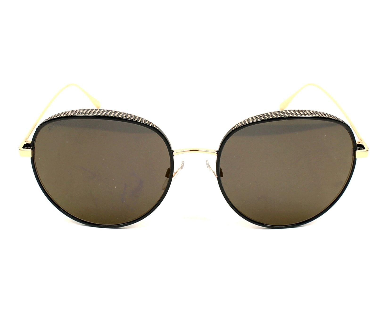 70d4f8f83fff Sunglasses Jimmy Choo ELLO-S PL0 HJ 56-18 Black Black front view