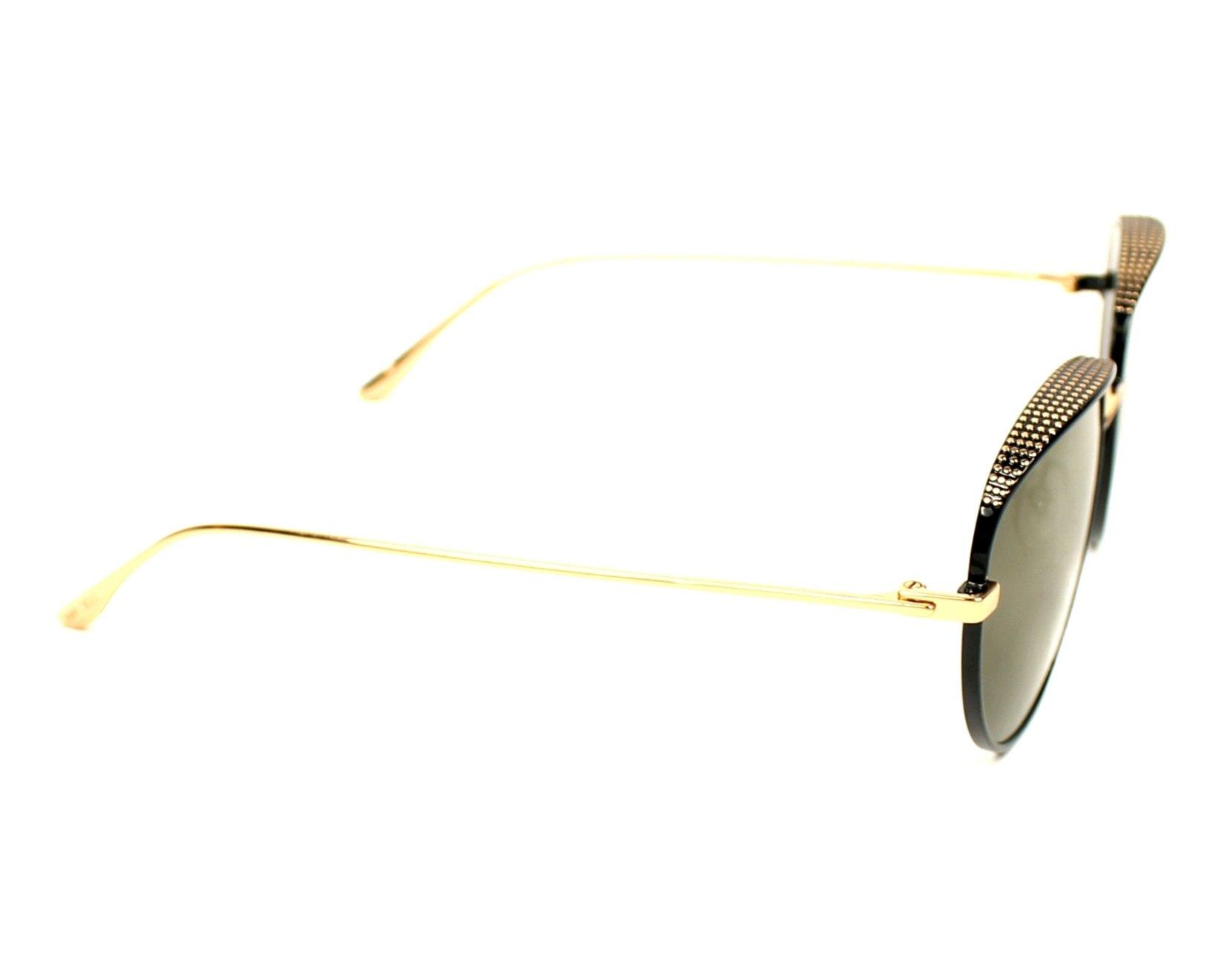6583e6f3f8c1 Sunglasses Jimmy Choo ELLO-S PL0 HJ 56-18 Black Black side view