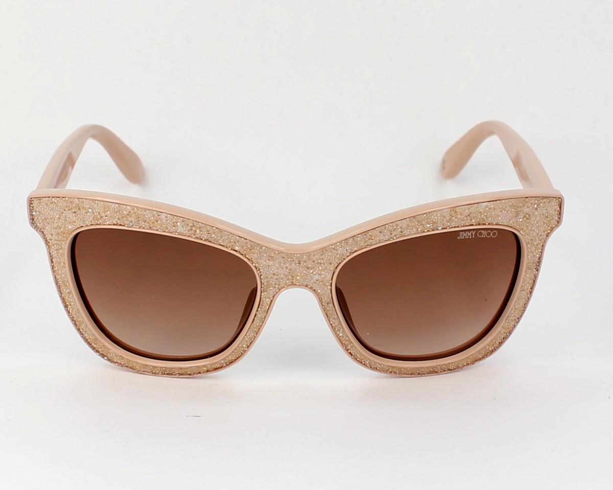 db5846cc4bd Sunglasses Jimmy Choo FlASH-S FIB 6Y 52-19 Nude Gold front view