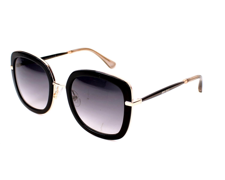 95cf323cfd9 Sunglasses Jimmy Choo GLENN-S QBE 9C 52-23 Black Gold profile view