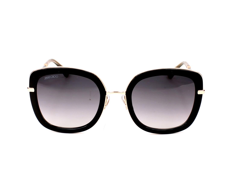 702ab3ba4d4 Sunglasses Jimmy Choo GLENN-S QBE 9C 52-23 Black Gold front view