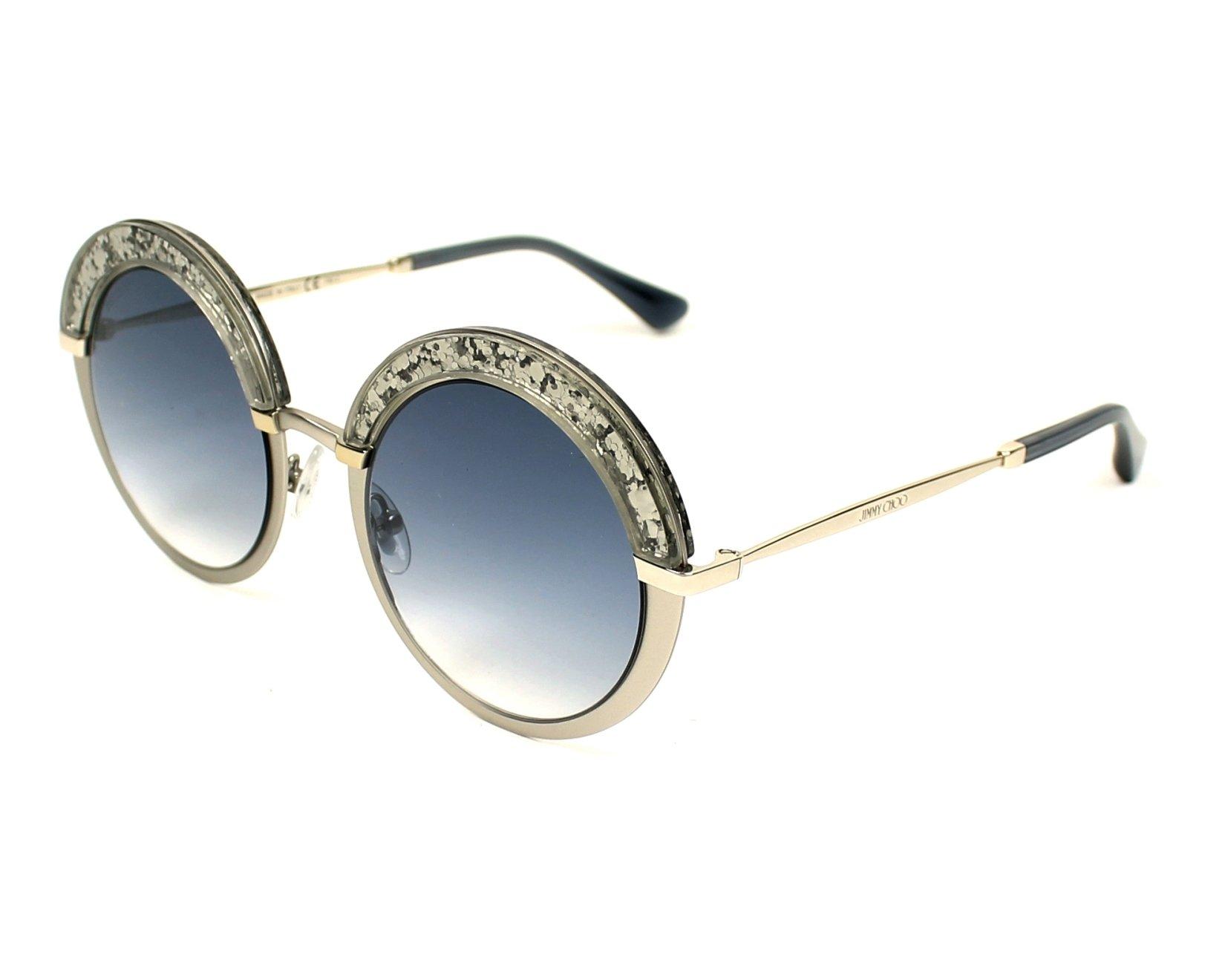 5adbd9ce4139 Sunglasses Jimmy Choo GOTHA-S 5RL KC 50-22 Silver Silver profile view