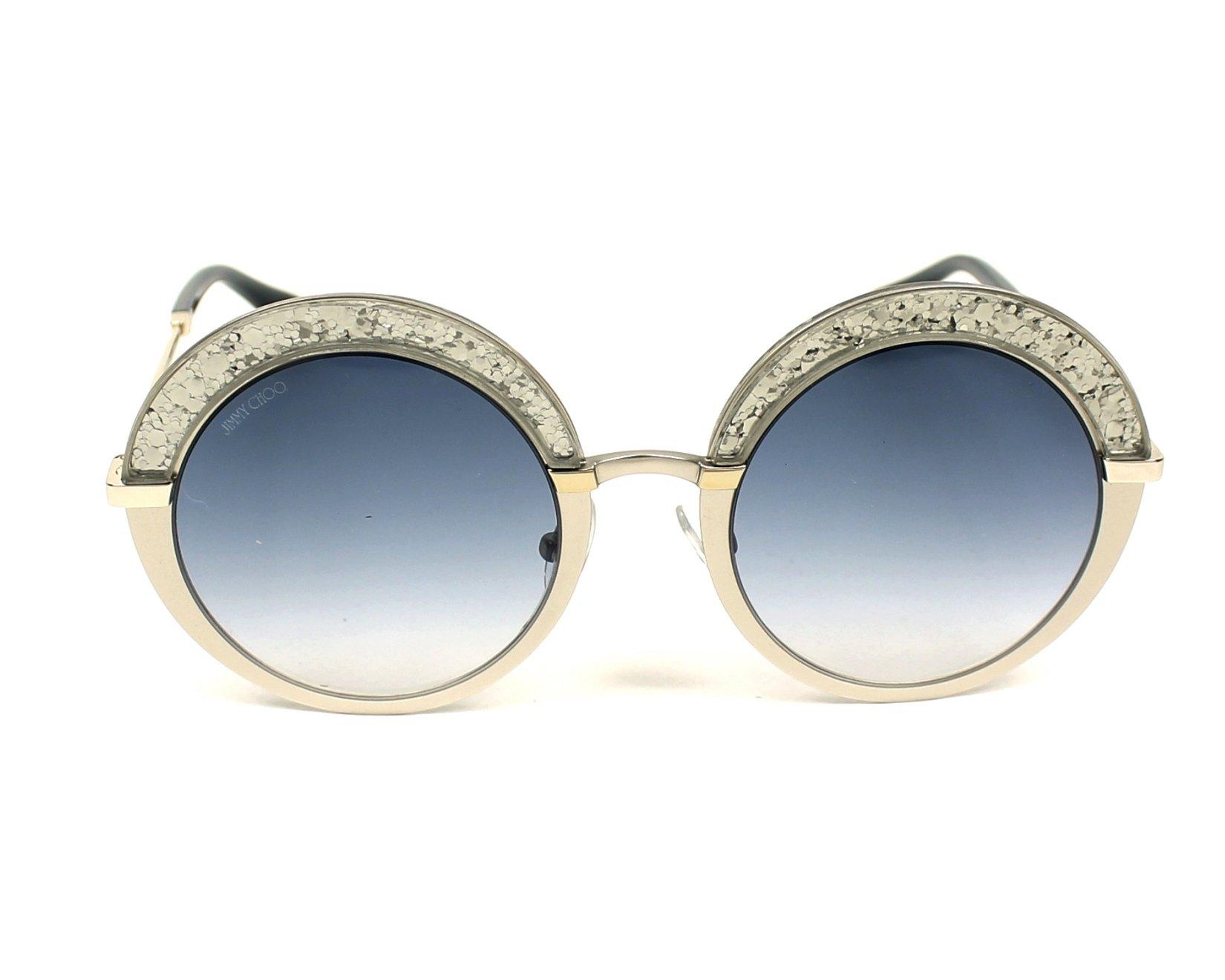 418f52485399 Sunglasses Jimmy Choo GOTHA-S 5RL KC 50-22 Silver Silver front view