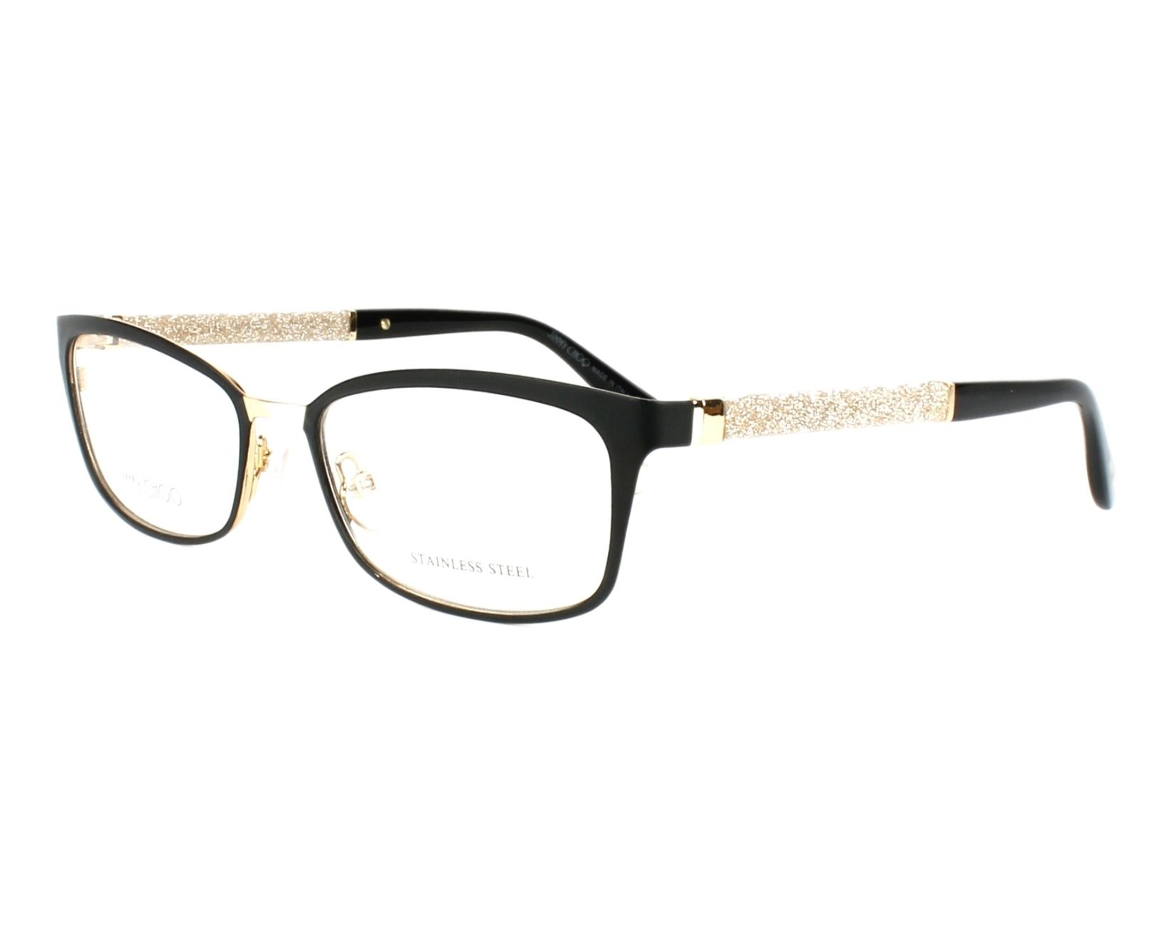 030ad6300aab eyeglasses Jimmy Choo JC-166 LVC - Black Grey profile view