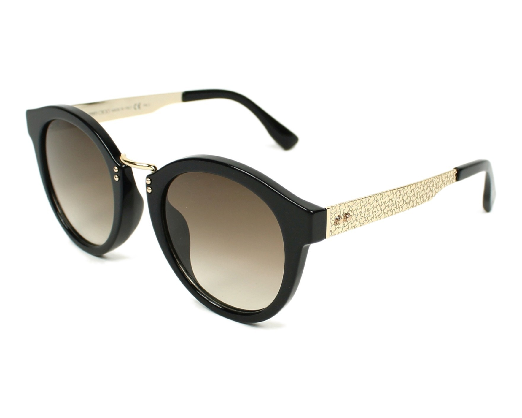 18e189d88bf Sunglasses Jimmy Choo PEPY-S QFE JD 50-22 Black Gold profile view