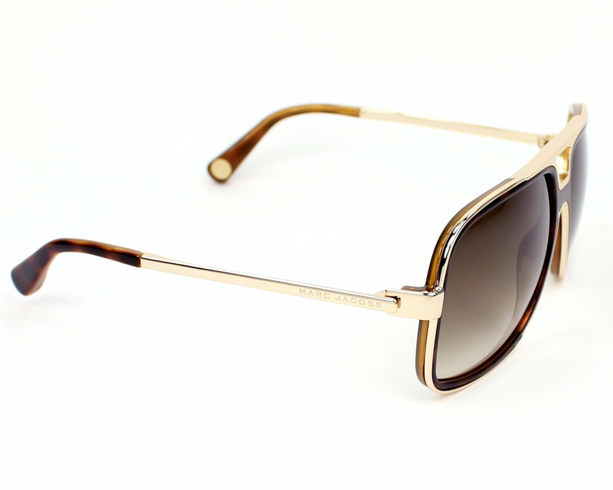 8e695fdc17cc0 Sunglasses Marc Jacobs MJ-513-S 00F DB - Havana Gold side view