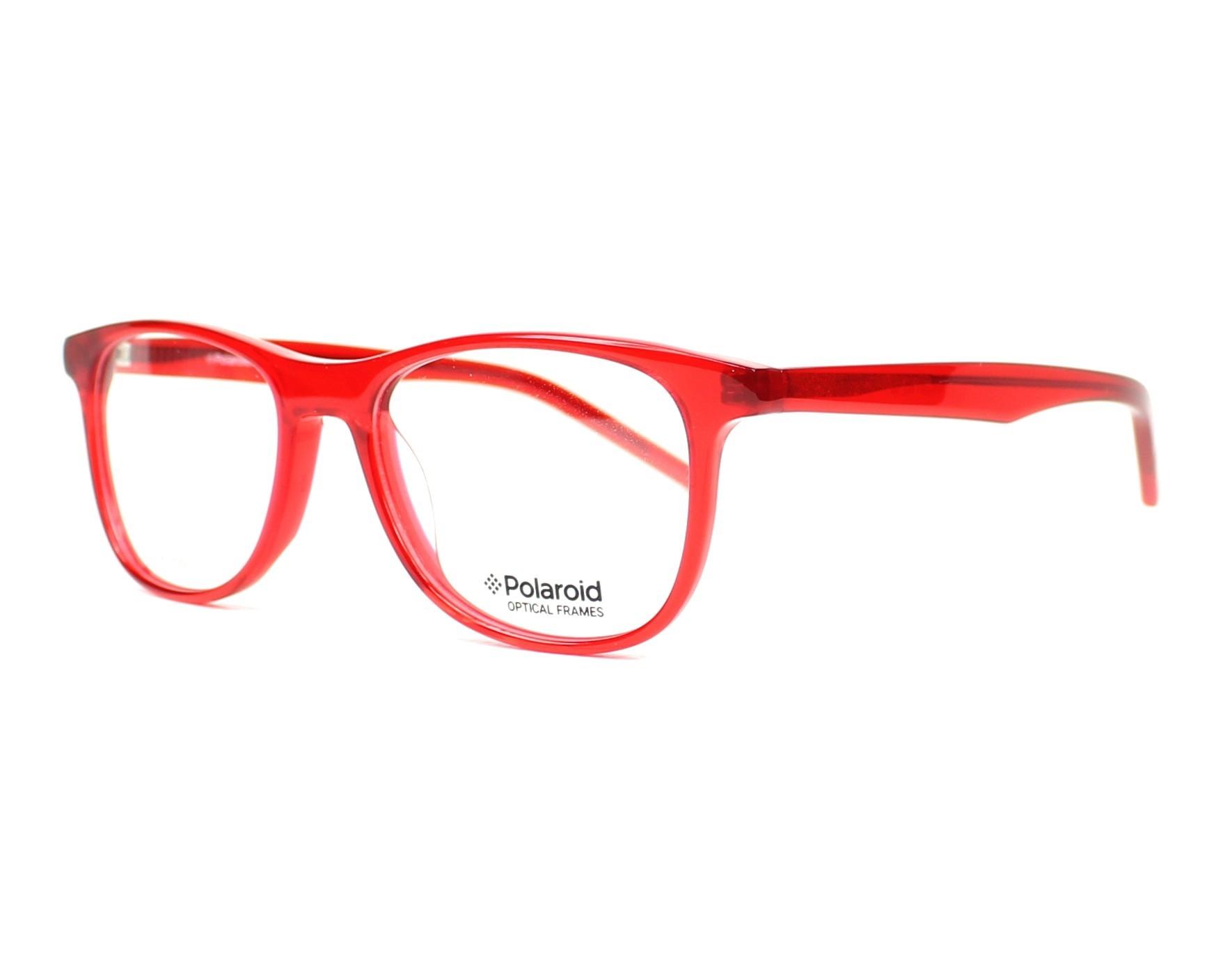 fd11de39ec81 eyeglasses Polaroid PLDD-801 5NL 47-16 Red profile view