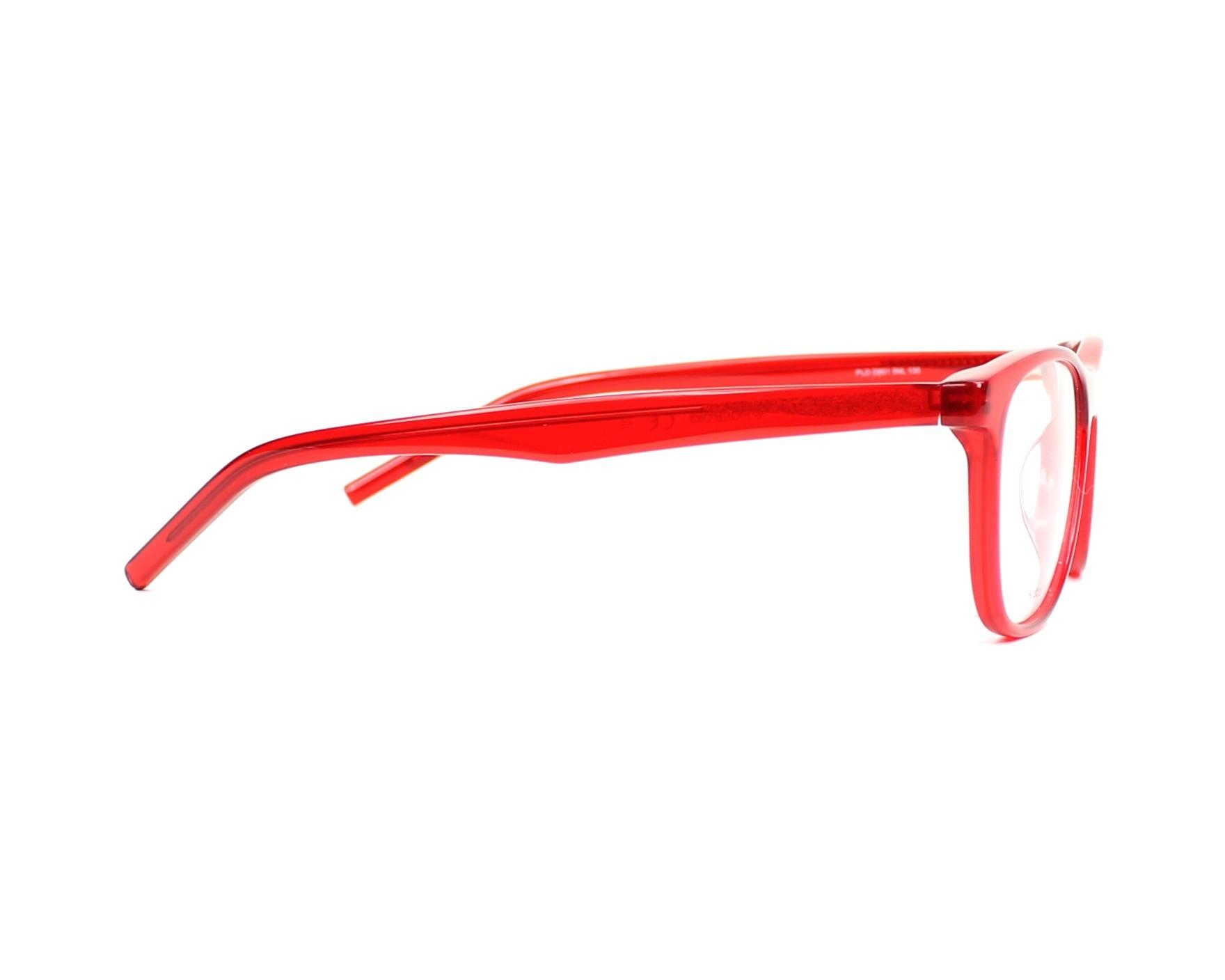 0d29ffc65d33 eyeglasses Polaroid PLDD-801 5NL 47-16 Red side view