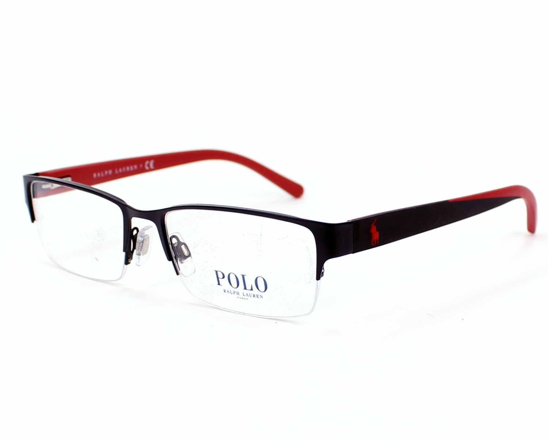 bb73cd4309 eyeglasses Polo Ralph Lauren PH-1152 9277 54-17 Black Red profile view