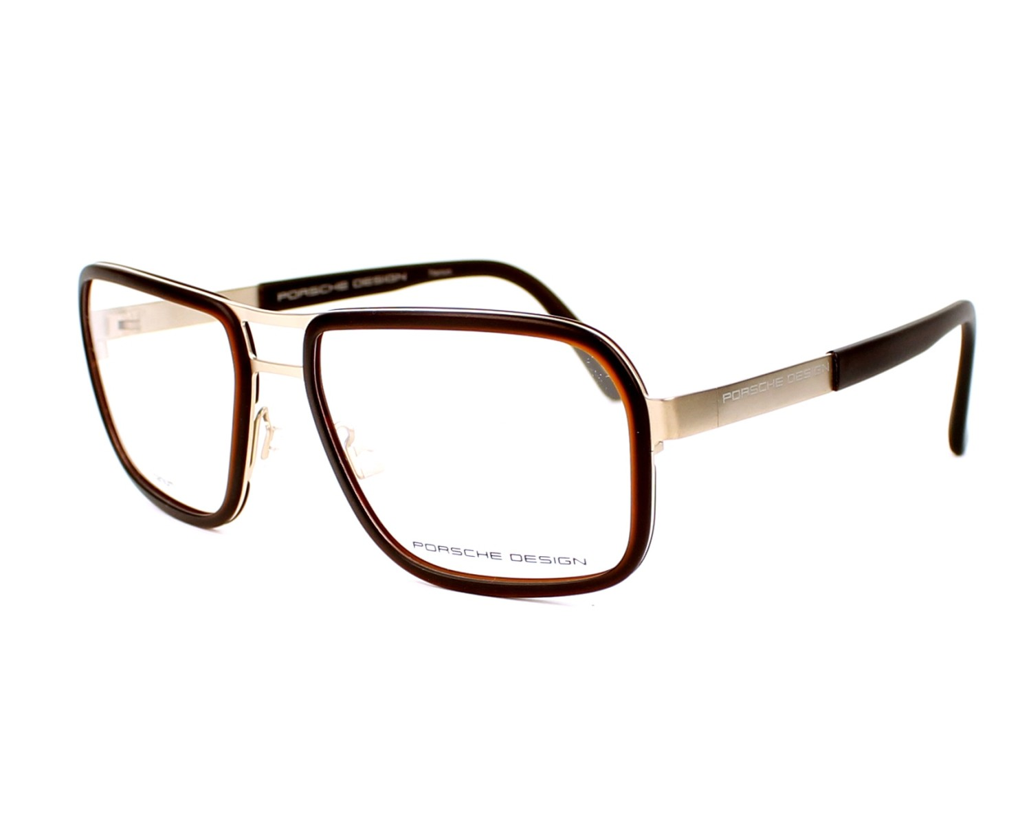 dc2e95adceeb0 eyeglasses Porsche Design P-8219 C - Gold Brown profile view