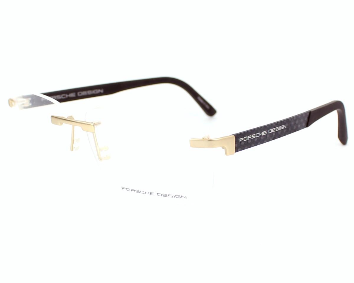 f9d8ab273231 eyeglasses Porsche Design P-8236-S1 B 58-14 Gold Black profile view