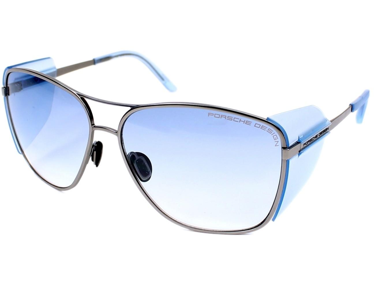 b7c343a1adbd Sunglasses Porsche Design P-8600 C 62-14 Silver Blue profile view