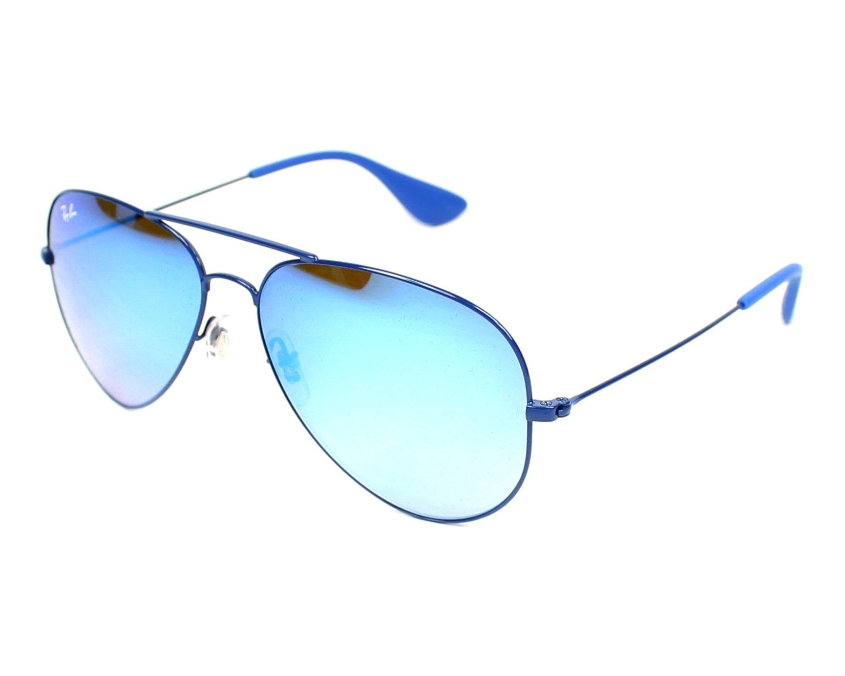 8c128663b86233 thumbnail Sunglasses Ray-Ban RB-3558 9016 B7 - Blue profile view