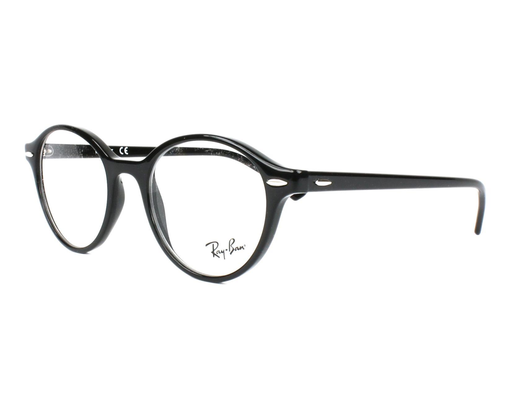 35f7b0c22e1 eyeglasses Ray-Ban RX-7118 2000 48-19 Black profile view
