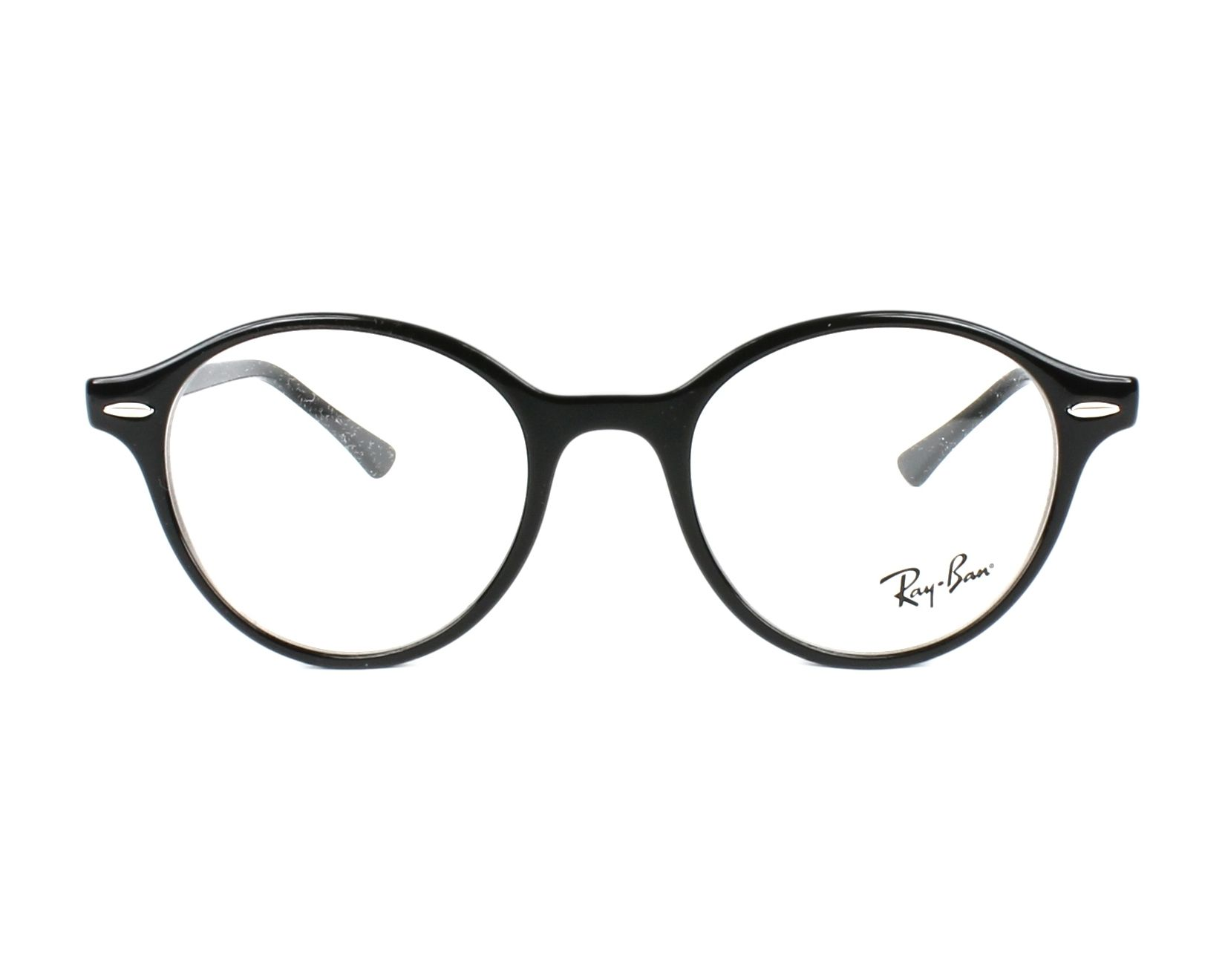 051753a10d eyeglasses Ray-Ban RX-7118 2000 48-19 Black front view
