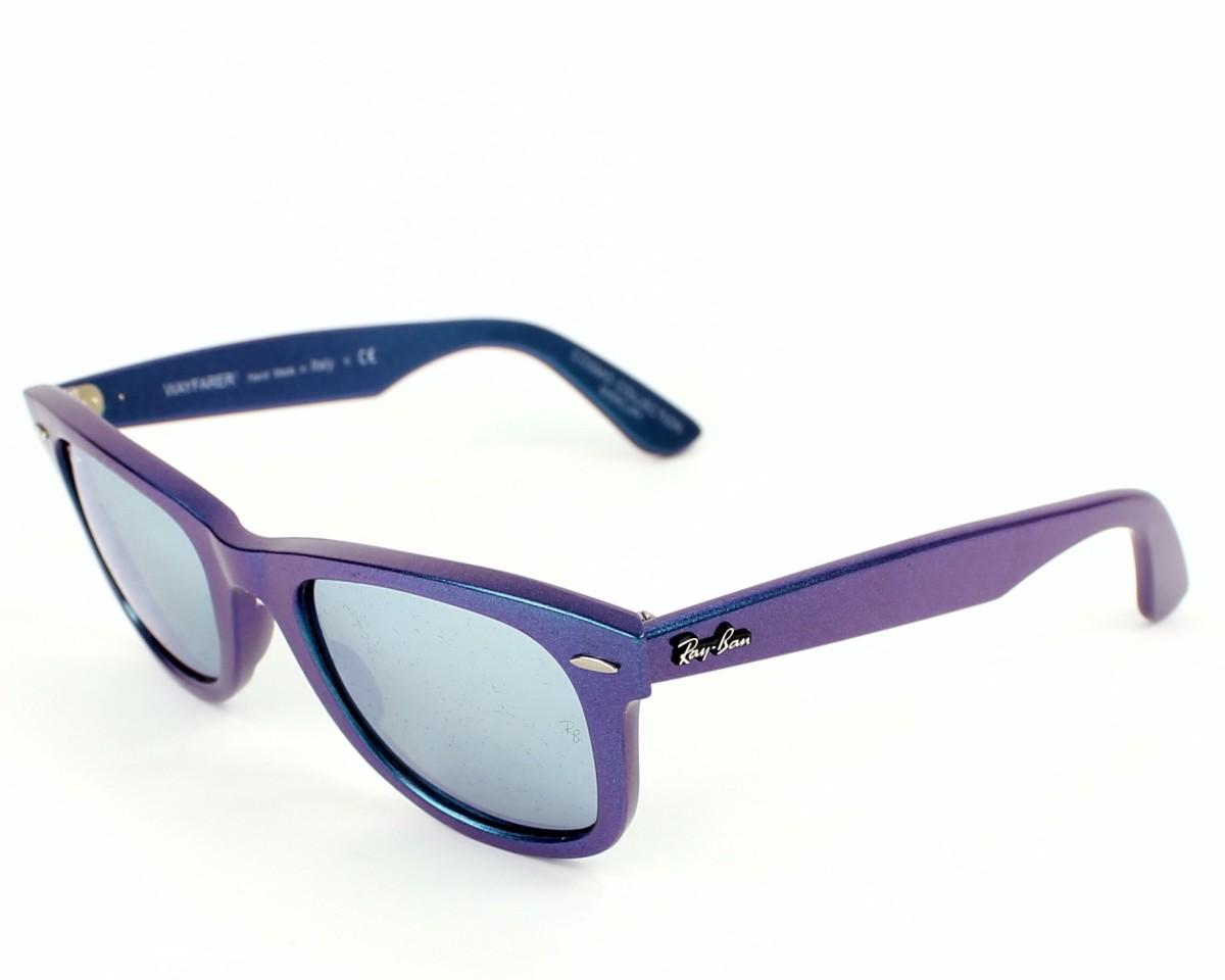 bf5b79b928 thumbnail Sunglasses Ray-Ban RB-2140 6113 30 - Blue Purple profile view