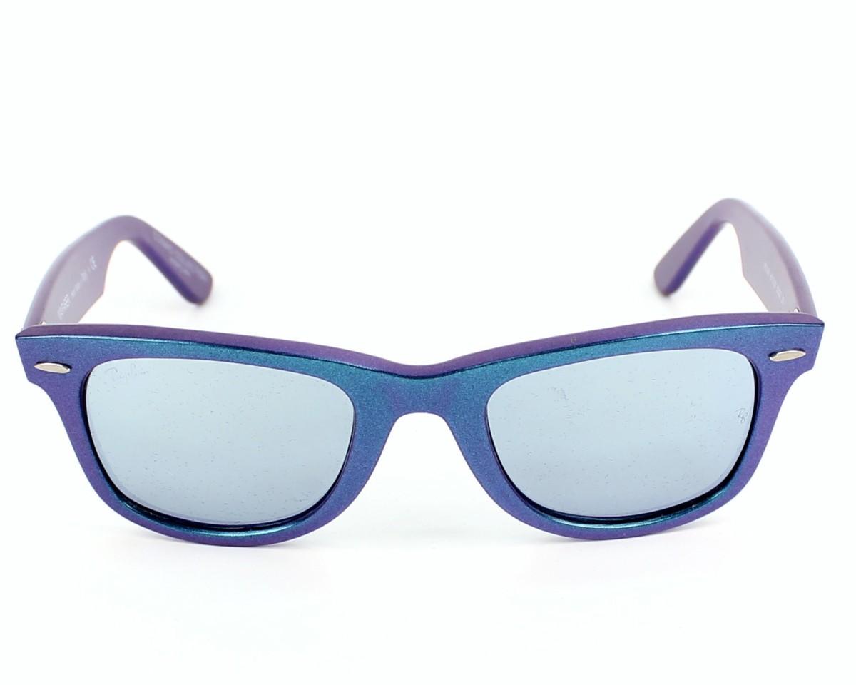 1585b6ddde thumbnail Sunglasses Ray-Ban RB-2140 6113 30 - Blue Purple front view