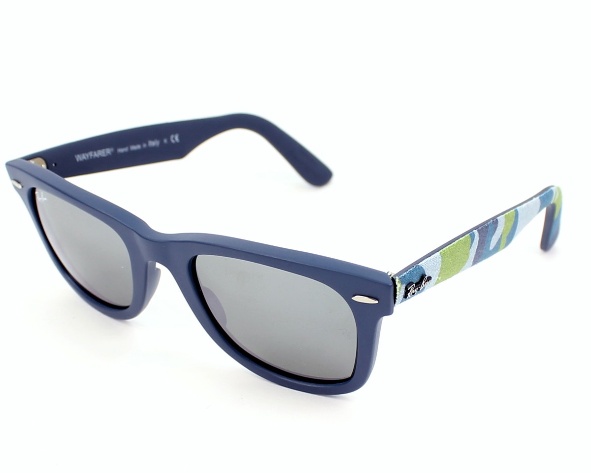 8a7621606f Sunglasses Ray-Ban RB-2140 6061 40 50-22 Blue profile view