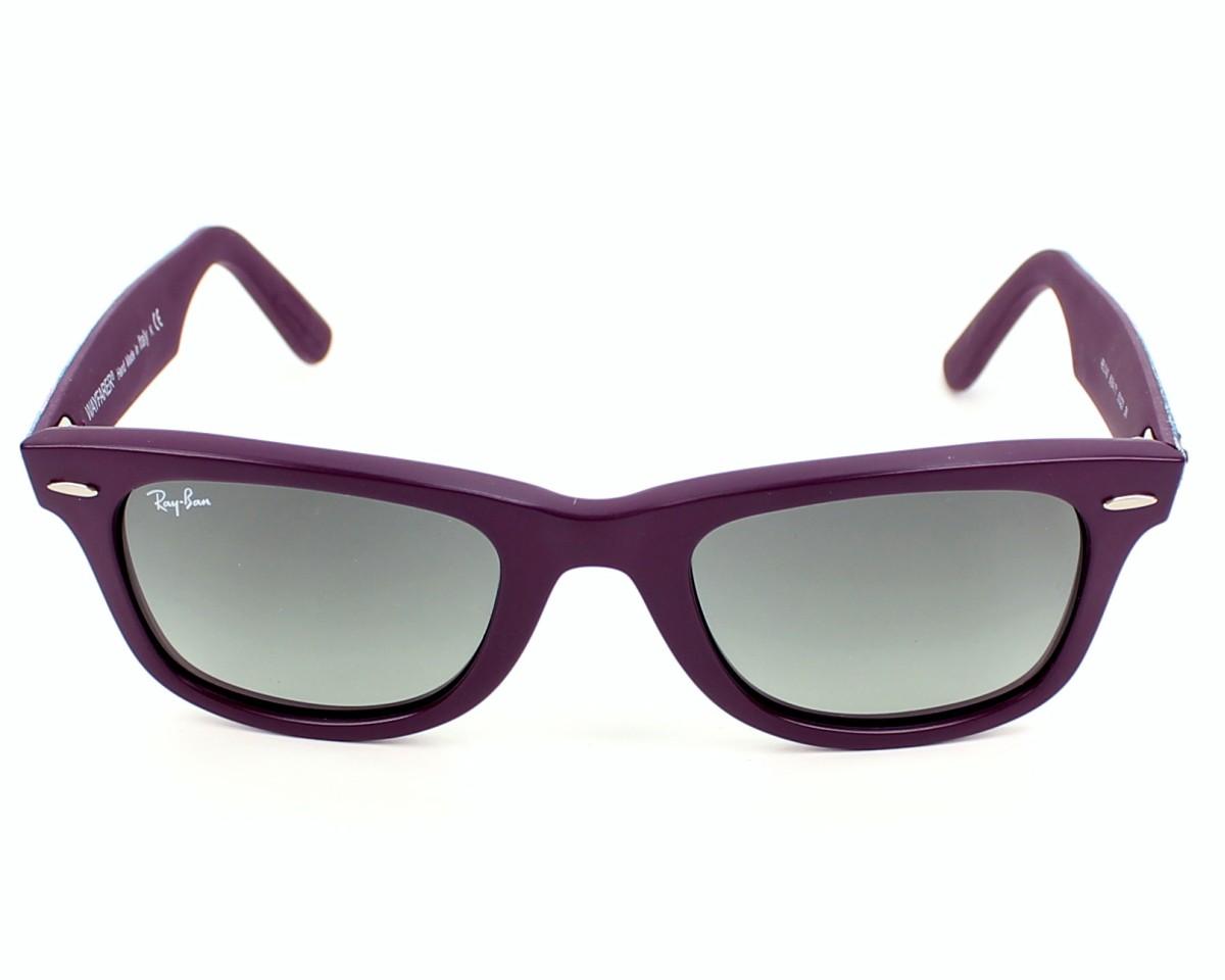 e8b659bf038f ... uk thumbnail sunglasses ray ban rb 2140 6064 71 purple front view bd72d  2f3ab