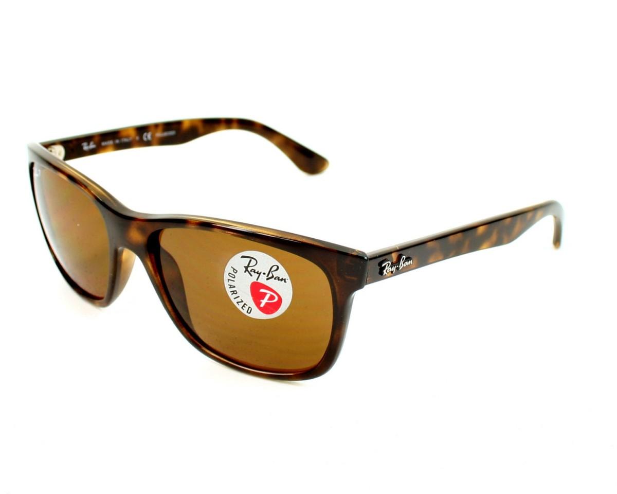d295e554d9c Polarized. Sunglasses Ray-Ban RB-4181 710 83 57-17 Havana profile view